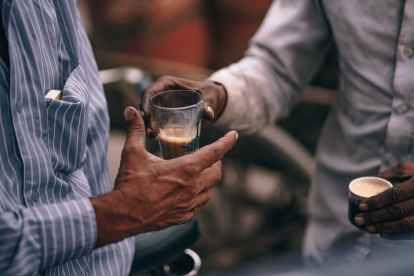 adult asia beverage black